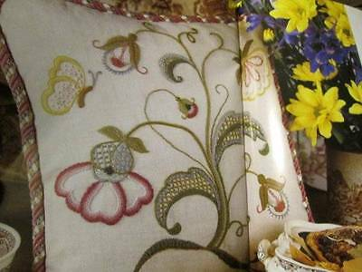Elegant Embroidery Magazine #26-Jacobean Poppies & Butterfly/Colonial Cross Stit