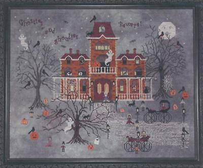 Ravenmoon Hall Haunted House Cross Stitch Chart -340x270 Stitches- Praiseworthy