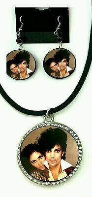 Prince remembering Pop Legend Prince Earring in Necklace