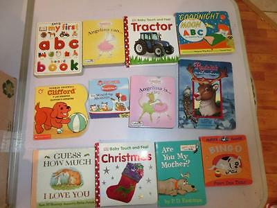 Lot 63 Baby Toddler Chunky Board Books Finger Puppet, Katz, Carle, Disney & More