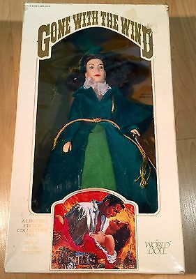 1989 Gone with the Wind,Scarlett O'Hara Doll #71151 Green/Blue Dress, World Doll