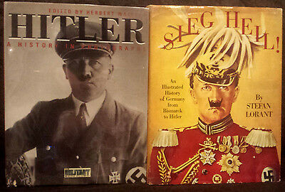 2 Book LOT • Sieg Heil • HITLER History in Photographs • WWII 2 B&W & Color