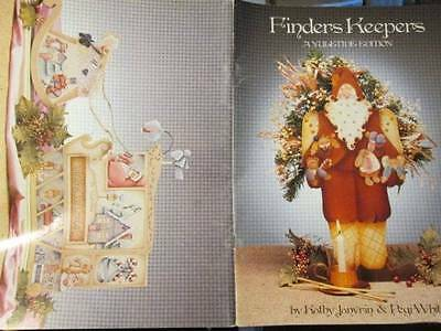 Finders Keepers Yuletide Edition Painting Book-Janvrin/White-Santas/Cat/Angels/T