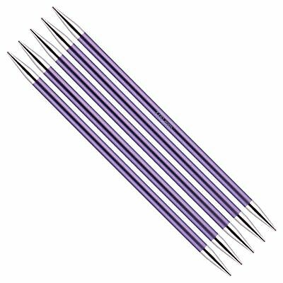 KnitPro Zing Double Pointed Needles. 20cm Length. Sizes 2 - 8 mm diameter.