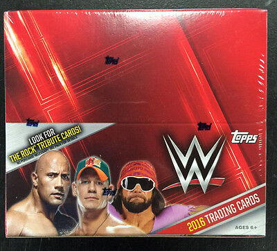 2016 Topps Wwe Trading Cards Hobby Sealed Box In Hand