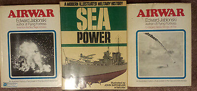 3 Book LOT • SEA POWER Batchelor • AIRWAR Jablonski • WWII 2 • Outraged / Terror