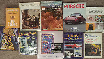 Misc 10 Book LOT • Rockwell • Big Band • Porsche • Cousteau • Michoacan Mexico