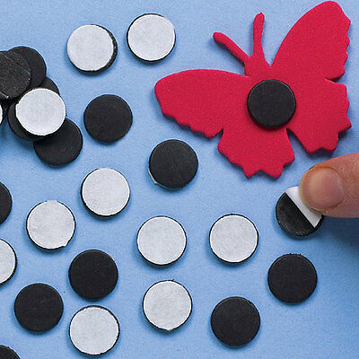 Self-Adhesive Magnetic Discs for Children's Craft Projects (Pack of 150)