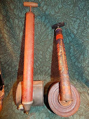 LOT OF 2 VINTAGE GARDEN SPRAYERS, One HUDSON and One SMITH w/ Wooden Handle
