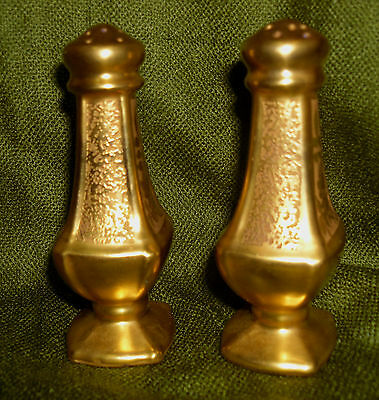 HP Gold-encrusted Salt and Pepper Shakers