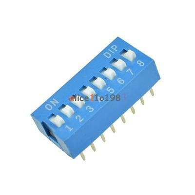 50PCS Slide Type Switch Module 2.54mm 8-Bit 8 Position Way DIP Blue Pitch