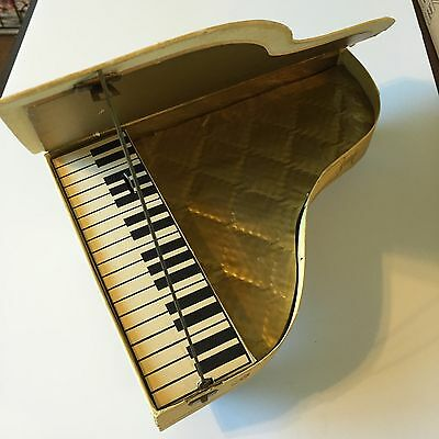 Vintage Trumpf Chocolate Piano Music Box Advertising W.Germany Cardboard