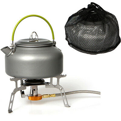 Outdoor Coffee Teapot Camping Hiking Picnic BBQ Kettle 800mL Water Pot Aluminum