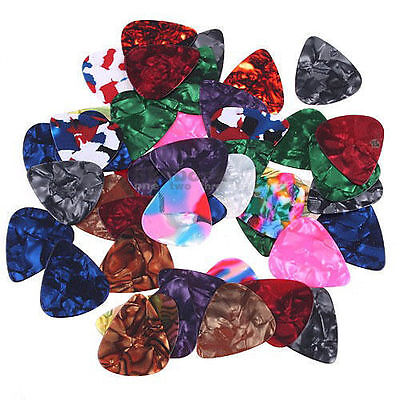 Hot Electric Guitar Bass Picks Colorful Celluloid Acoustic Plectrums