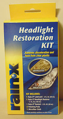 Rain-X Headlight Restoration Kit for Car Care VW Skoda Nissan Toyota Subaru Ford