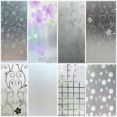 Frosted Flower Circle Window Glass Film Sticker Privacy Bedroom ...