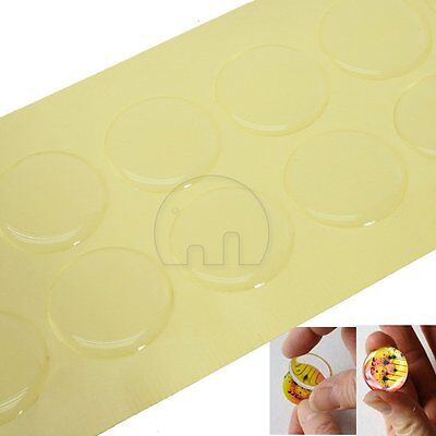 "100Pcs 26mm 1"" Clear Epoxy Circle Bottle Cap Domes Stickers Dots Crafting DIY"