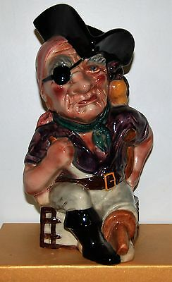 Shorter & Son Pottery Character Jug Long John Silver *** Great Condition ***