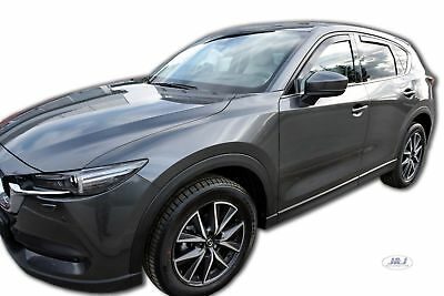 MAZDA CX-5 CX5 5 DOOR 2017-up  wind deflectors 4pc TINTED HEKO