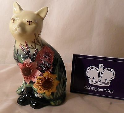 New & Boxed Old Tupton Ware SUMMER BOUQUET CAT - TW1500