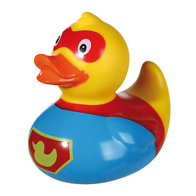 8Cm Squeaking Duck Superhero Toy Bath Time Fun Gift Kids Baby Floating Novelty