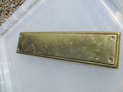Vintage Brass Finger Plate Push Door Handle Rope Edge Antique Georgian Style