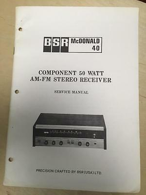 BSR McDonald Service Manual for the 40 Receiver