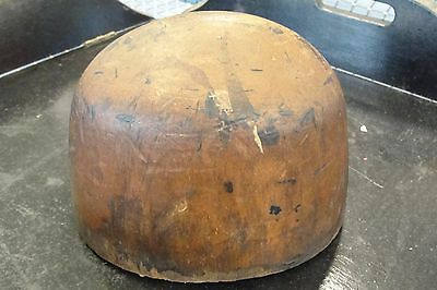 Antique Millinery Wooden Hat Mold Form