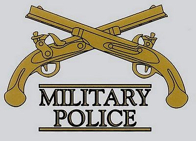Army Military Police Crossed Pistols Decal