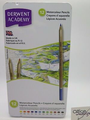 12 Pack Derwent Academy Water Colour Pencils Break Resistant 2301941* HOT PRICE.
