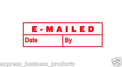 "Deskmate Pre Inked Office Stamp ""EMAILED"" Red - JA0273460"