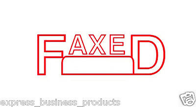 """Deskmate Pre Inked Office Stamp """"FAXED"""" Red - JA0273570"""
