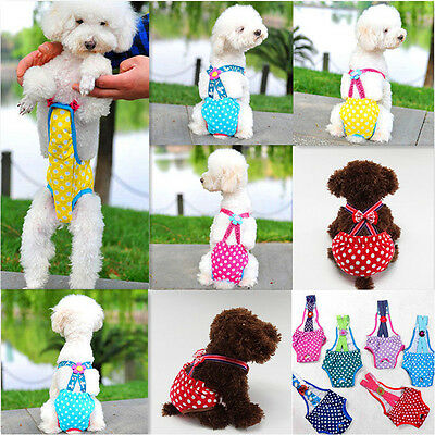 Small Pet Female Dog Puppy Suspender Strap Sanitary Pants Underwear Cloth Diaper