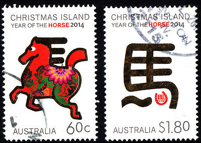 Christmas Island 2014 - Year of the Horse Set of Stamps P Used