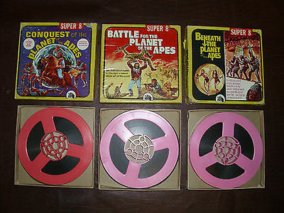 Vintage Planet Of The Apes Super 8MM Films Rare Beneath The Planet Apes MIB 1969
