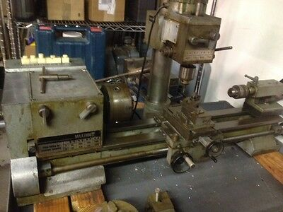 MAXIMAT 7 LATHE/MILL COMBO  with TURRET ATTACHMENT, QUICK  CHANGE CHUCK & MORE