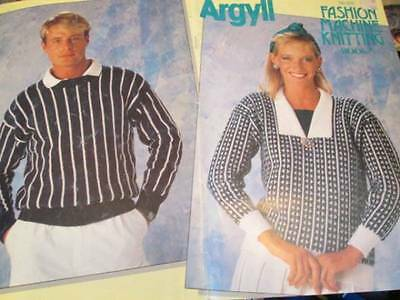 Argyll Fashion Machine Knitting Book #5-12 Men/Women Designs All Shown -Brother