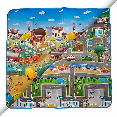 Prince Lionheart Reversible Toddler's Play Mat - Farm / City Designs