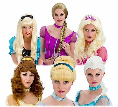 Ladies Princess Queen Fairy Tale Story Book Fancy Dress Costume Accessory Wig