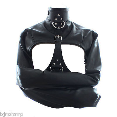 *** Adult Leather Straight Jacket Bondage S&m Sex Fetish Slave Restraint ***