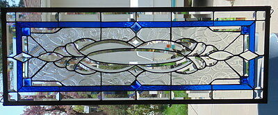 Stained Glass Window Hanging 38 1/2 X 14 1/4