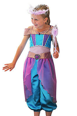 Girls Arabian Princess New Childrens Jasmine Book Day Fancy Dress Costume Outfit
