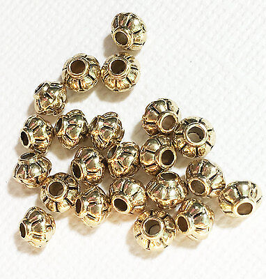 available in 4 colors 50 Rondelle spacer beads 4x5mm metal spacer beads