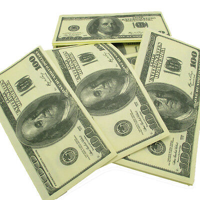 100$ Dollars Napkin US Dollar Bill Paper Towel Novelty Fun Tricky Gift Creative
