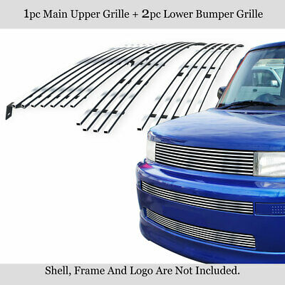 APS Compatible with 2003-2007 Scion XB Billet Grille Combo Upper+Lower T87977A