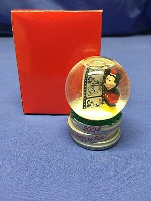 JC Penney 2004 Disney Mickey Mouse Black Friday Snow Globe Christmas- 75 Years