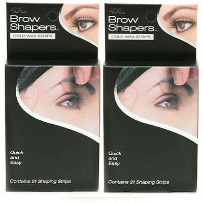 (Pack of 2) Ardell Brow Shapers Cold Wax Strips, 21-Count each