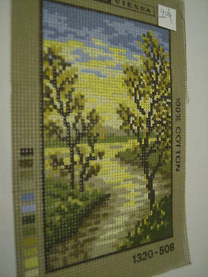 Tapex Vienna Needlepoint Canvas 3 Designs-Fall Path #1320-508/Pansies 115-267/Ye