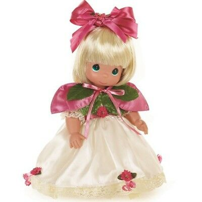 Precious Moments 16 Inch Vinyl Doll, 'Belle At Christmas Ball', Blonde, New 1220