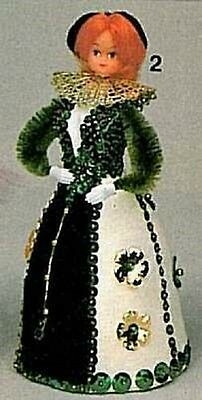 """MY FAIR LADY  Kit Doll Body Gown 6"""" Foam- LADY IN WAITING- Beaded  Beads"""